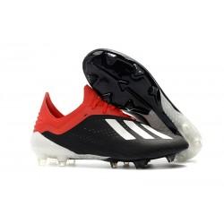 Scarpe da Calcio adidas X 18.1 FG - Nero Bianca Rosso