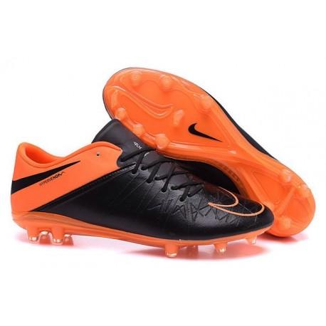 Scarpe da Calcio Uomo 2015 Nike Hypervenom Phinish FG Nero Arancione