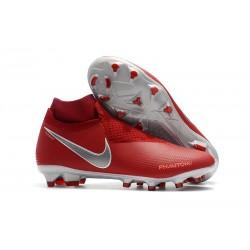Scarpe Nuovo Nike Phantom Vision Elite DF FG - Rosso Argento