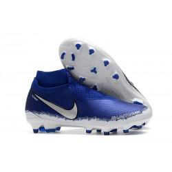 Scarpe Nuovo Nike Phantom Vision Elite DF FG - Blu Argento
