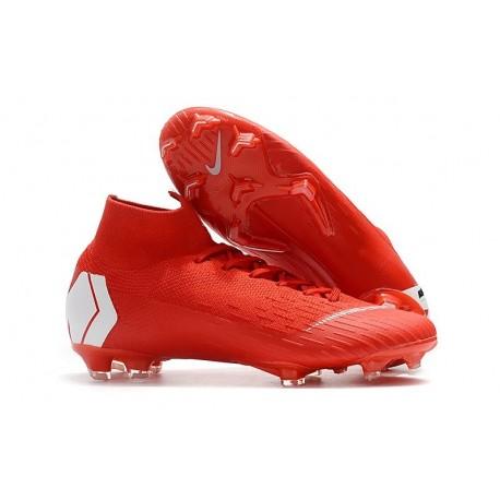 Nike Mercurial Superfly 6 Elite FG Scarpe da Calcio - Rosso Bianco