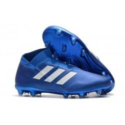 adidas Nemeziz 18+ FG Nuovo Scarpe da Calcio - Blu Bianco