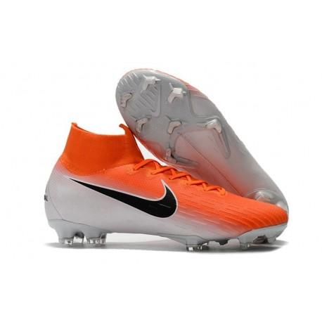 Nike Mercurial Superfly 6 Elite FG Scarpe da Calcio - Arancio Bianca