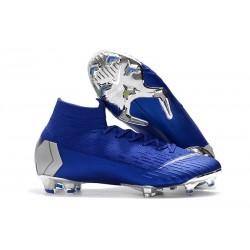 Nike Mercurial Superfly 6 Elite FG Scarpe da Calcio - Blu Argento