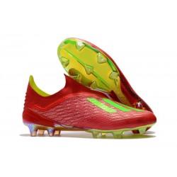 adidas X 18+ FG Scarpa da Calcio - Rosso Verde