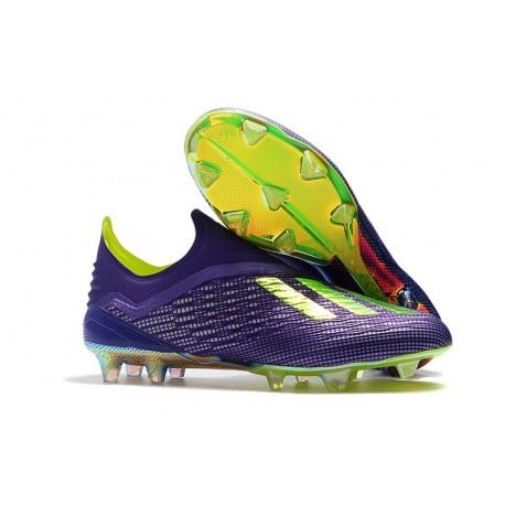 adidas X 18+ FG Scarpa da Calcio - Viola Verde