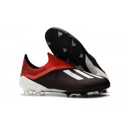 adidas X 18+ FG Scarpa da Calcio - Nero Rosso Bianco