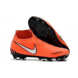 Nike Phantom VSN Elite DF FG Scarpa Uomo - Arancio Nero Argento