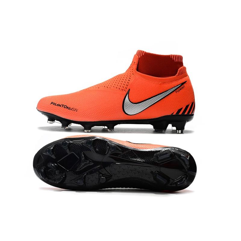 Nike Phantom VSN Elite DF FG Scarpa Uomo - Arancio Nero Argento 45c6239b239