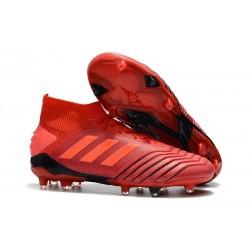 Scarpa Nuovo Adidas Predator 19.1 FG - Rosso