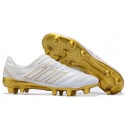 Scarpe calcio adidas Copa 19.1 FG da Adult - Bianco Oro