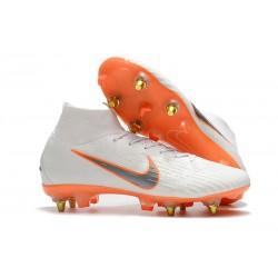 Scarpe Nike Mercurial Superfly VI Elite SG-Pro AC Bianco Arancio