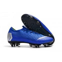 Scarpe Calcio Nike Mercurial Vapor Elite SG-Pro Blu Argento