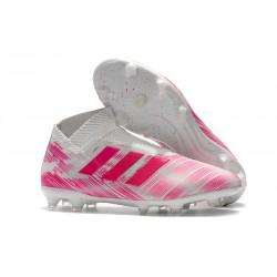 adidas Nemeziz 18+ FG Nuovo Scarpe da Calcio - Rosa Bianco