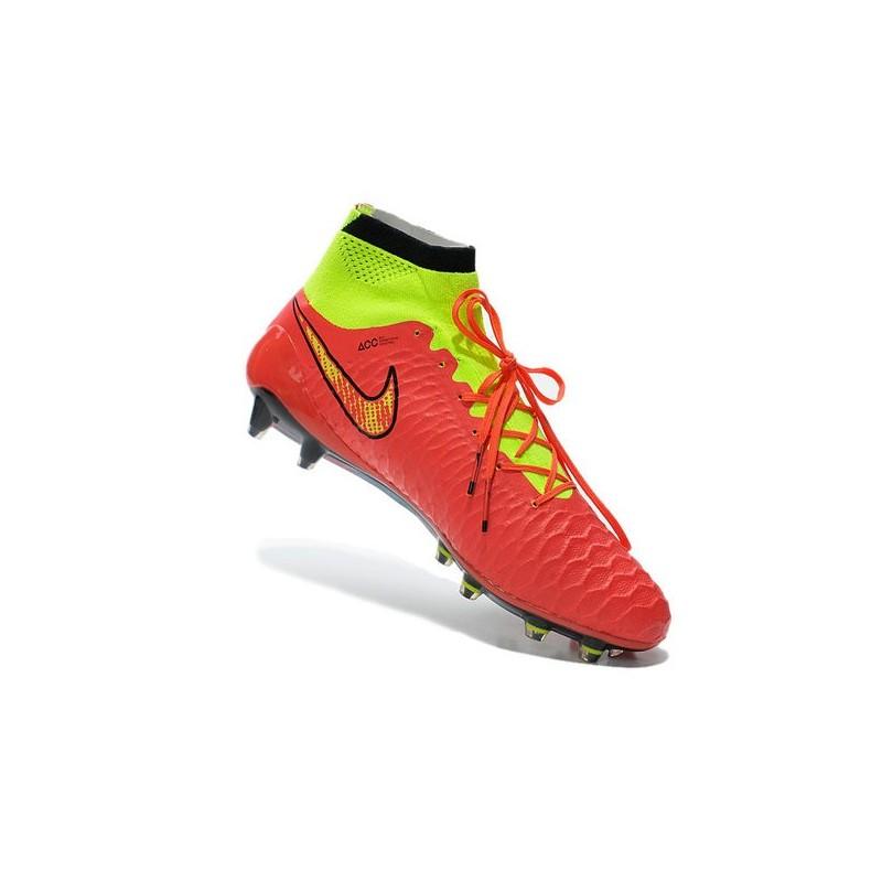 Nike Obra Calcio Magista Scarpe Rosso Da Fg Con Tacchetti Verde CxBrdoeW