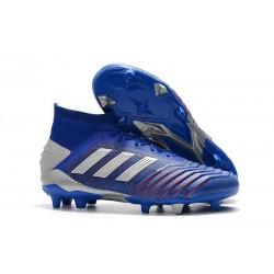 Scarpa Nuovo Adidas Predator 19.1 FG - Blu Argento