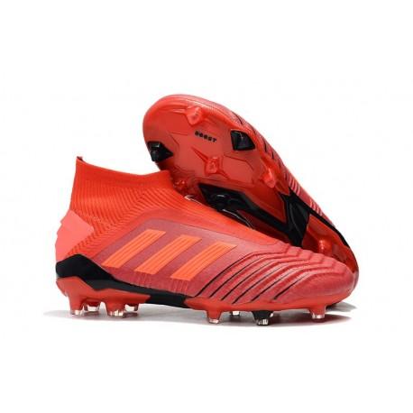 Nuovo Da Predator Calcio 19Fg Scarpa Rosso Adidas 5qcS3Aj4RL