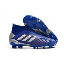 Adidas Scarpa da Calcio Nuovo Predator 19+ FG - Blu Argento