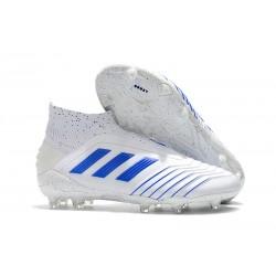 Adidas Virtuso Scarpa da Calcio Nuovo Predator 19+ FG - Bianco Blu